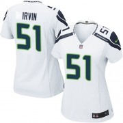 NFL Bruce Irvin Seattle Seahawks Women's Game Road Nike Jersey - White
