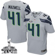 NFL Byron Maxwell Seattle Seahawks Elite Alternate Super Bowl XLVIII Nike Jersey - Grey