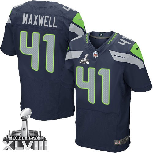 NFL Byron Maxwell Seattle Seahawks Elite Team Color Home Super ...