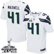 NFL Byron Maxwell Seattle Seahawks Elite Road Super Bowl XLVIII Nike Jersey - White