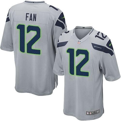 NFL 12th Fan Seattle Seahawks Game Alternate Nike Jersey - Grey