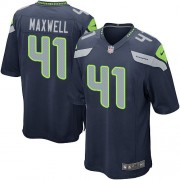 NFL Byron Maxwell Seattle Seahawks Game Team Color Home Nike Jersey - Navy Blue