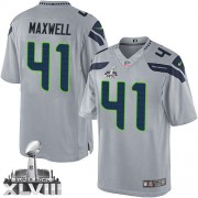 NFL Byron Maxwell Seattle Seahawks Limited Alternate Super Bowl XLVIII Nike Jersey - Grey