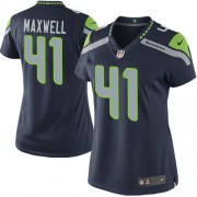 NFL Byron Maxwell Seattle Seahawks Women's Elite Team Color Home Nike Jersey - Navy Blue