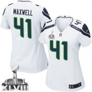 NFL Byron Maxwell Seattle Seahawks Women's Elite Road Super Bowl XLVIII Nike Jersey - White