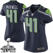 NFL Byron Maxwell Seattle Seahawks Women's Limited Team Color Home Super Bowl XLVIII Nike Jersey - Navy Blue