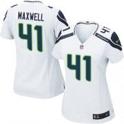 NFL Byron Maxwell Seattle Seahawks Women's Limited Road Nike Jersey - White