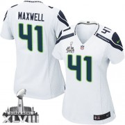 NFL Byron Maxwell Seattle Seahawks Women's Limited Road Super Bowl XLVIII Nike Jersey - White