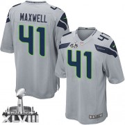 NFL Byron Maxwell Seattle Seahawks Youth Elite Alternate Super Bowl XLVIII Nike Jersey - Grey