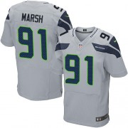 NFL Cassius Marsh Seattle Seahawks Elite Alternate Nike Jersey - Grey