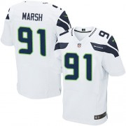 NFL Cassius Marsh Seattle Seahawks Elite Road Nike Jersey - White