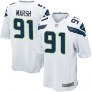 NFL Cassius Marsh Seattle Seahawks Game Road Nike Jersey - White