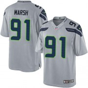NFL Cassius Marsh Seattle Seahawks Limited Alternate Nike Jersey - Grey