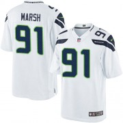 NFL Cassius Marsh Seattle Seahawks Limited Road Nike Jersey - White