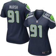 NFL Cassius Marsh Seattle Seahawks Women's Game Team Color Home Nike Jersey - Navy Blue