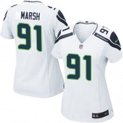 NFL Cassius Marsh Seattle Seahawks Women's Game Road Nike Jersey - White