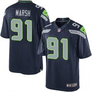 NFL Cassius Marsh Seattle Seahawks Youth Elite Team Color Home Nike Jersey - Navy Blue