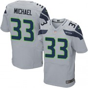 NFL Christine Michael Seattle Seahawks Elite Alternate Nike Jersey - Grey