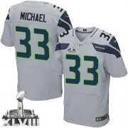 NFL Christine Michael Seattle Seahawks Elite Alternate Super Bowl XLVIII Nike Jersey - Grey