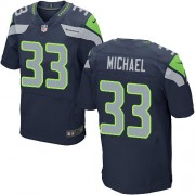 NFL Christine Michael Seattle Seahawks Elite Team Color Home Nike Jersey - Navy Blue