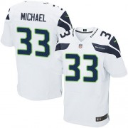 NFL Christine Michael Seattle Seahawks Elite Road Nike Jersey - White