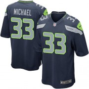 NFL Christine Michael Seattle Seahawks Game Team Color Home Nike Jersey - Navy Blue
