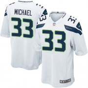NFL Christine Michael Seattle Seahawks Game Road Nike Jersey - White