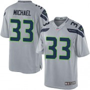 NFL Christine Michael Seattle Seahawks Limited Alternate Nike Jersey - Grey