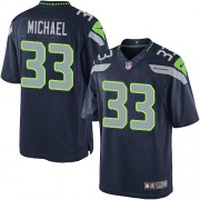 NFL Christine Michael Seattle Seahawks Limited Team Color Home Nike Jersey - Navy Blue