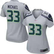 NFL Christine Michael Seattle Seahawks Women's Game Alternate Nike Jersey - Grey