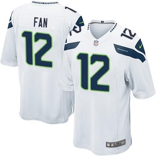NFL 12th Fan Seattle Seahawks Game Road Nike Jersey - White