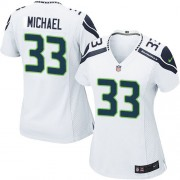 NFL Christine Michael Seattle Seahawks Women's Game Road Nike Jersey - White