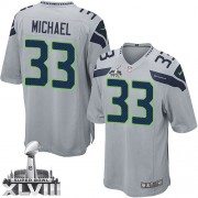 NFL Christine Michael Seattle Seahawks Youth Elite Alternate Super Bowl XLVIII Nike Jersey - Grey