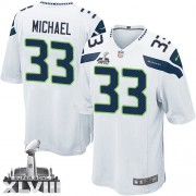 NFL Christine Michael Seattle Seahawks Youth Elite Road Super Bowl XLVIII Nike Jersey - White