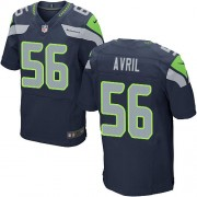 NFL Cliff Avril Seattle Seahawks Elite Team Color Home Nike Jersey - Navy Blue