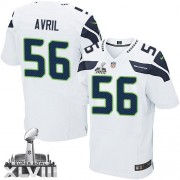NFL Cliff Avril Seattle Seahawks Elite Road Super Bowl XLVIII Nike Jersey - White
