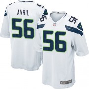 NFL Cliff Avril Seattle Seahawks Game Road Nike Jersey - White