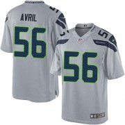 NFL Cliff Avril Seattle Seahawks Limited Alternate Nike Jersey - Grey