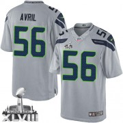 NFL Cliff Avril Seattle Seahawks Limited Alternate Super Bowl XLVIII Nike Jersey - Grey