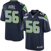 NFL Cliff Avril Seattle Seahawks Limited Team Color Home Nike Jersey - Navy Blue