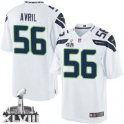 NFL Cliff Avril Seattle Seahawks Limited Road Super Bowl XLVIII Nike Jersey - White