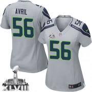 NFL Cliff Avril Seattle Seahawks Women's Elite Alternate Super Bowl XLVIII Nike Jersey - Grey