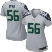 NFL Cliff Avril Seattle Seahawks Women's Game Alternate Nike Jersey - Grey