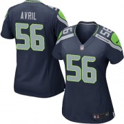 NFL Cliff Avril Seattle Seahawks Women's Game Team Color Home Nike Jersey - Navy Blue