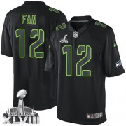 NFL 12th Fan Seattle Seahawks Elite Super Bowl XLVIII Nike Jersey - Black Impact