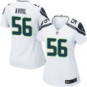NFL Cliff Avril Seattle Seahawks Women's Limited Road Nike Jersey - White