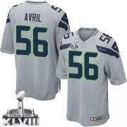 NFL Cliff Avril Seattle Seahawks Youth Elite Alternate Super Bowl XLVIII Nike Jersey - Grey