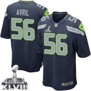 NFL Cliff Avril Seattle Seahawks Youth Elite Team Color Home Super Bowl XLVIII Nike Jersey - Navy Blue