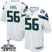 NFL Cliff Avril Seattle Seahawks Youth Elite Road Super Bowl XLVIII Nike Jersey - White