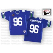 NFL Cortez Kennedy Seattle Seahawks Authentic Home Hall of Fame 2012 Throwback Mitchell and Ness Jersey - Blue